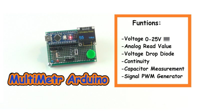 MultiMeter Arduino nano and OLED i2c 0.96″